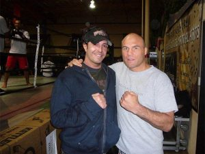 "At Extreme Couture MMA Gym, Las Vegas, NV. with the Champ Randy ""The Natural"" Couture"