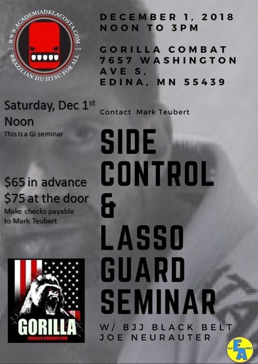 Dec. 1st 2018 BJJ Seminar